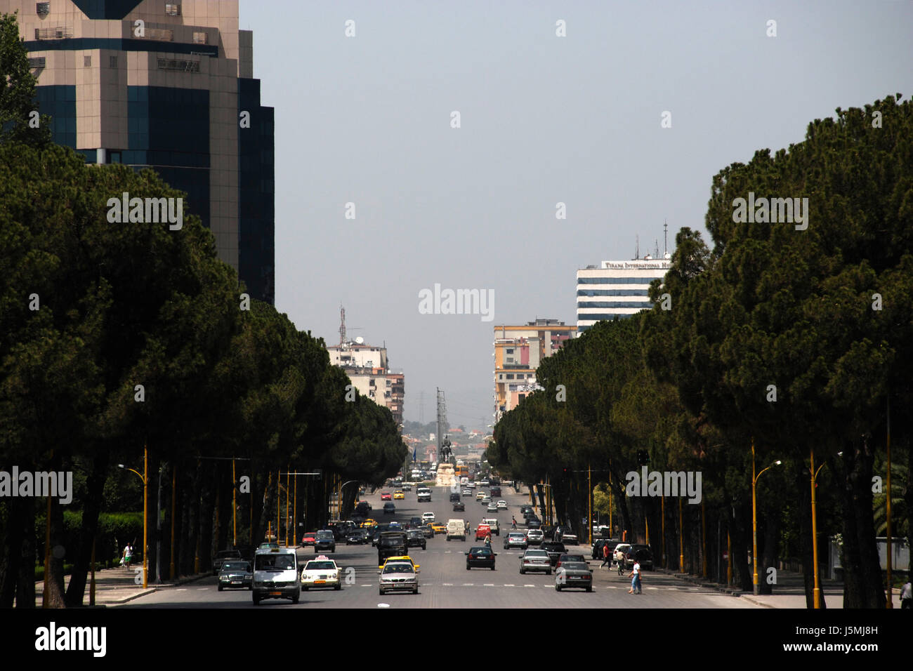 city town metropolis capital albania city of a million people main - Stock Image