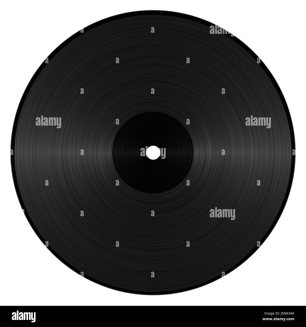 abstracted vinyl record - Stock Image