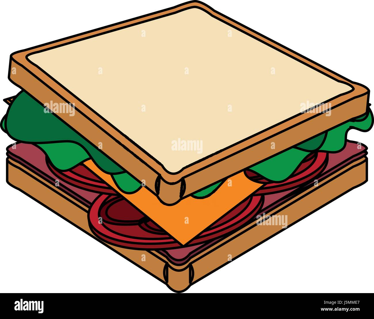sandwich cartoon high resolution stock photography and images alamy https www alamy com stock photo color image cartoon side view bread sandwich 141211343 html