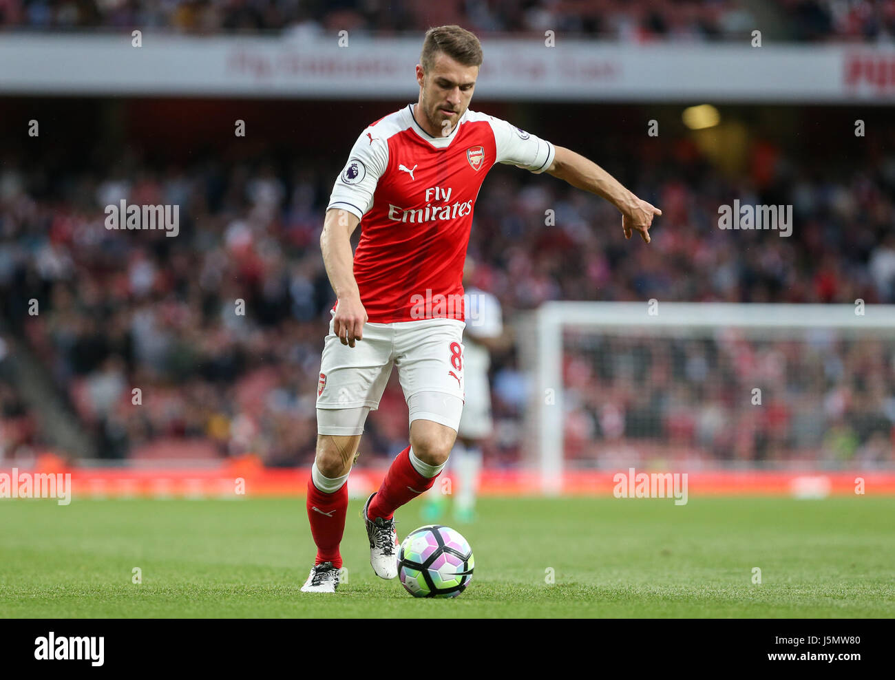 Aaron Ramsey of Arsenal during the Premier League match between Arsenal and Sunderland AFC at the Emirates Stadium - Stock Image