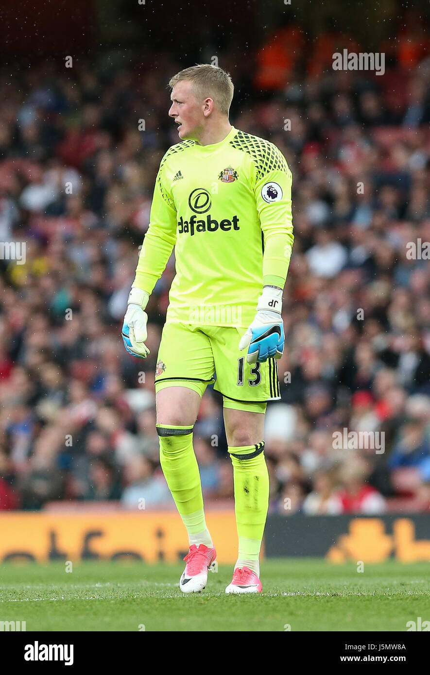 Jordan Pickford of Sunderland during the Premier League match between Arsenal and Sunderland AFC at the Emirates - Stock Image