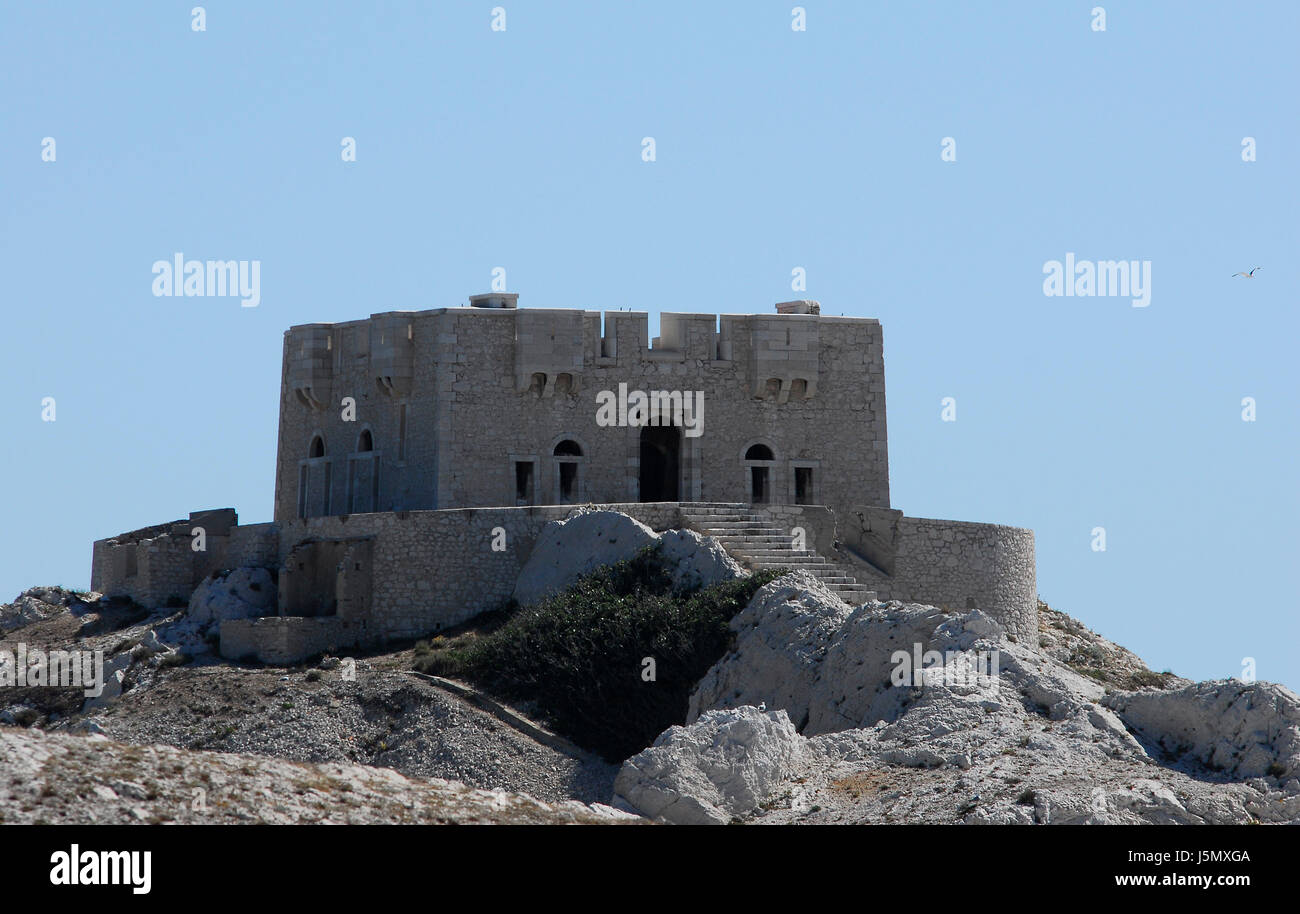 tower historical france tele islands Southern France watchtower Provence - Stock Image