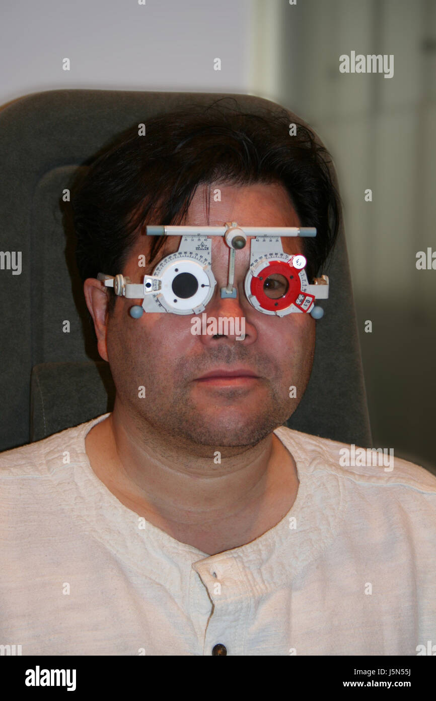 eye measurement Stock Photo