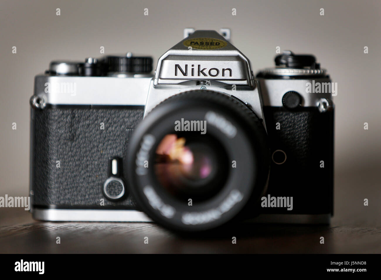 Vintage Nikon FE Single Lens Reflex 35mm Film Camera - Stock Image
