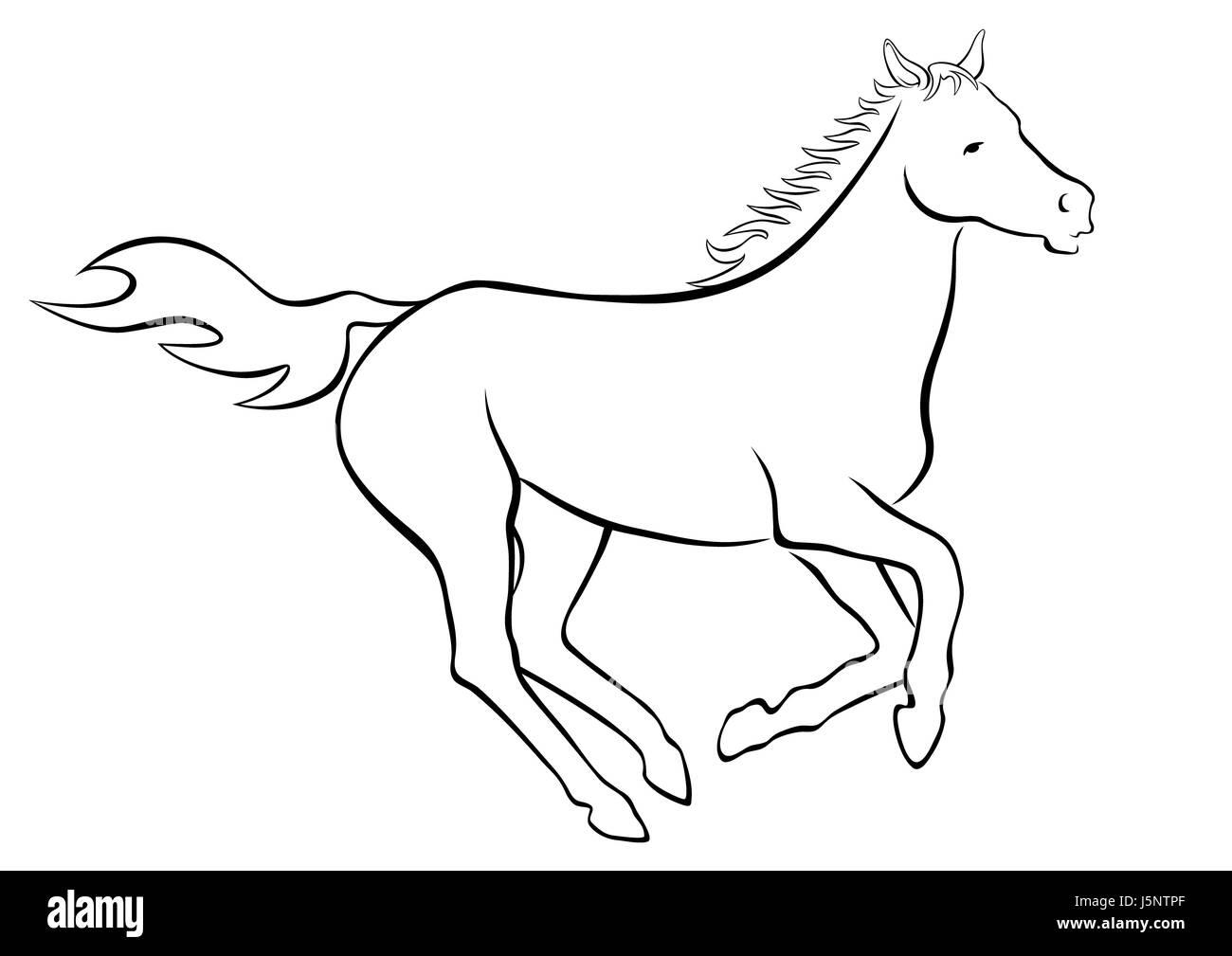 kraftwerk horse Stock Photo