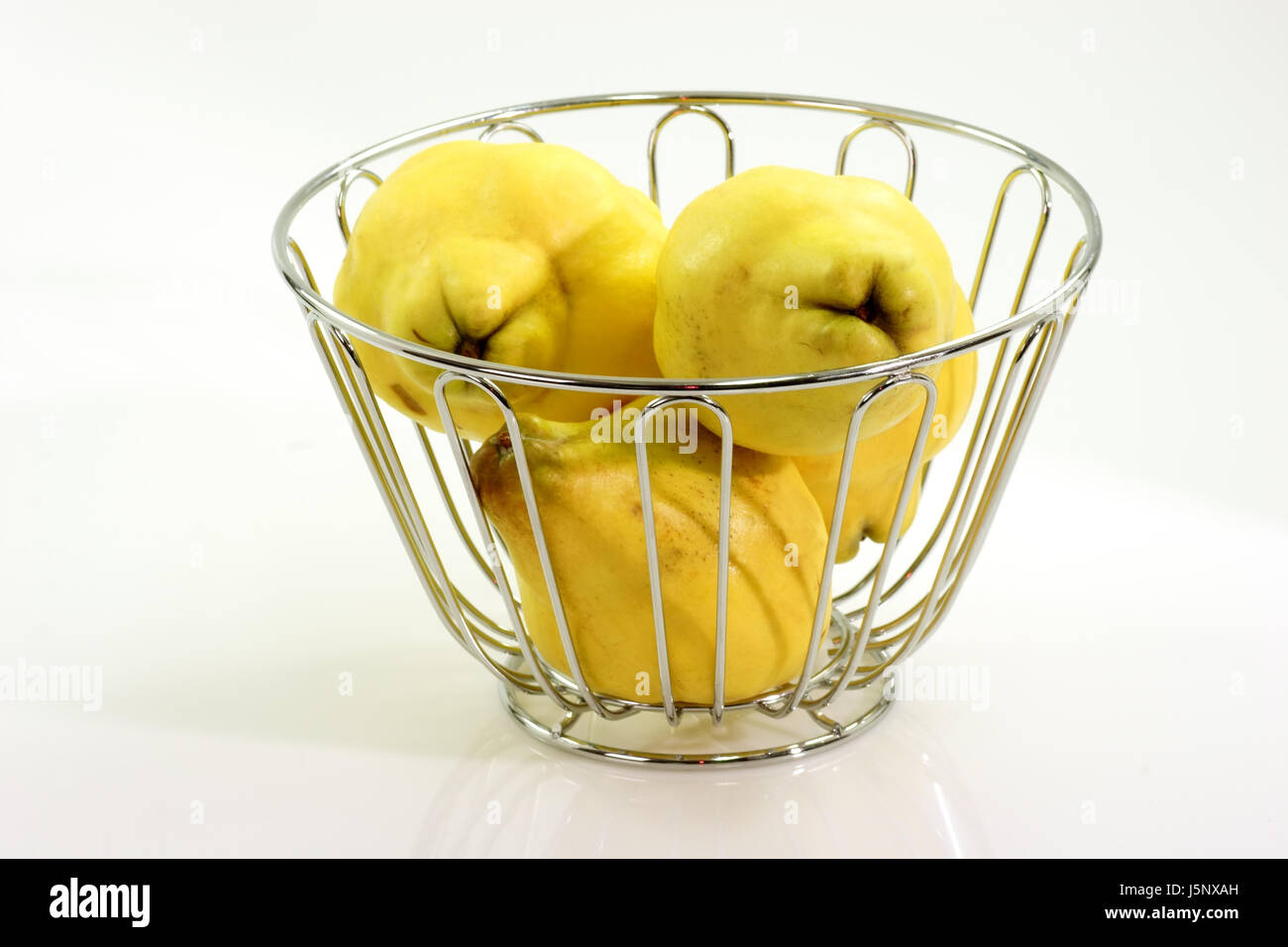quince fruit basket Stock Photo