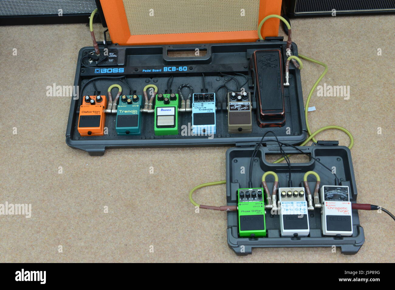 Guitar Pedal Board Stock Photos Images Wiring Effects Pedals Image