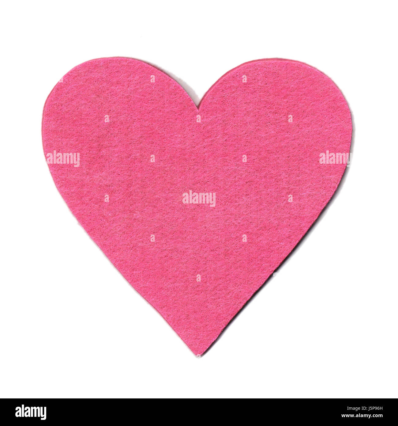 feeling soft romanticism magenta felt love in love fell in love emotion heart - Stock Image