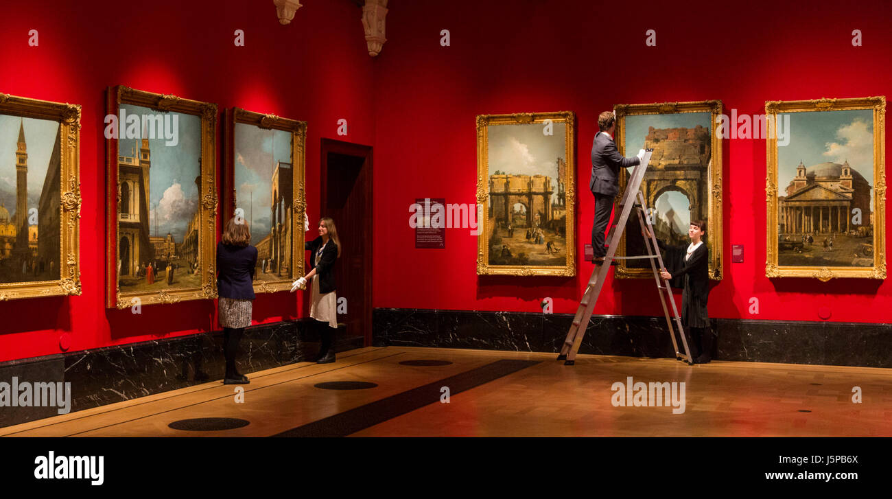 London, UK. 18 May 2017. The exhibition Canaletto & the Art of Venice opens at The Queen's Gallery, Buckingham - Stock Image