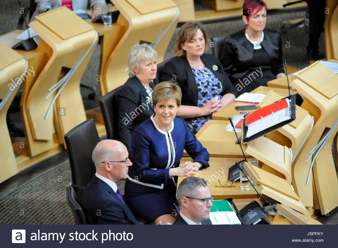 Edinburgh, UK. 18 May, 2017. First Minister Nicola Sturgeon during First Ministers Questions. Roger Gaisford/Alamy - Stock Image