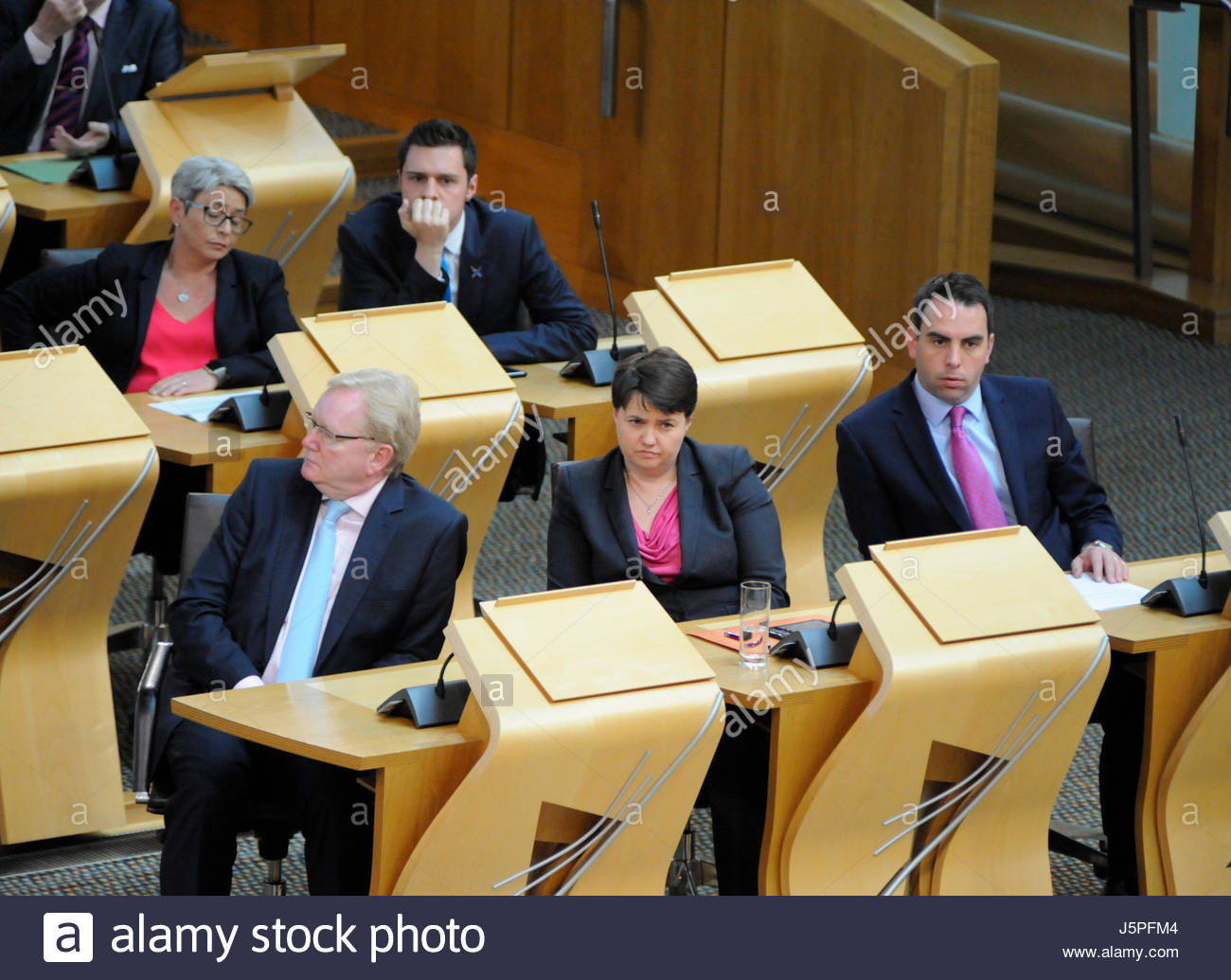 Edinburgh, UK. 18 May, 2017.Ruth Davidson during First Ministers Questions. Roger Gaisford/Alamy Live News. - Stock Image