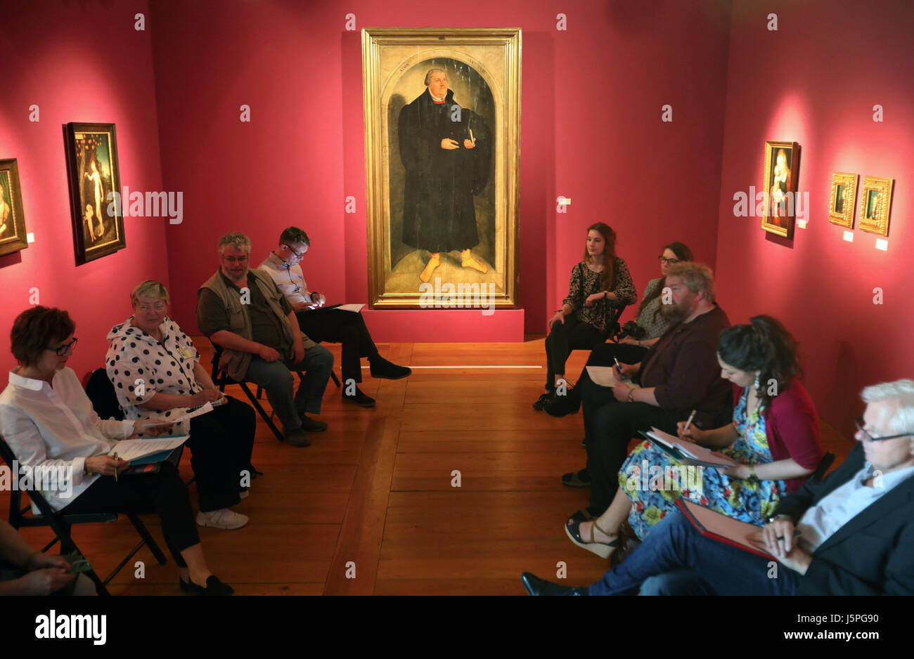 Guestrow, Germany. 18th May, 2017. The exhibitions 'Cranachs Luther!' and 'Pop Up Cranach' by the - Stock Image