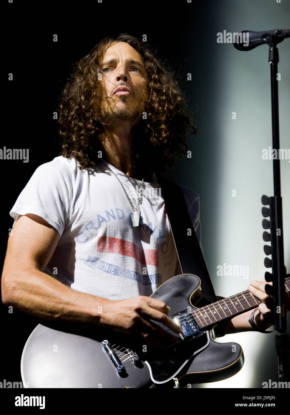 Soundgarden performs on day three of the Lollapalooza music festival in Chicago Illinois on August 7, 2010. Photo - Stock Image