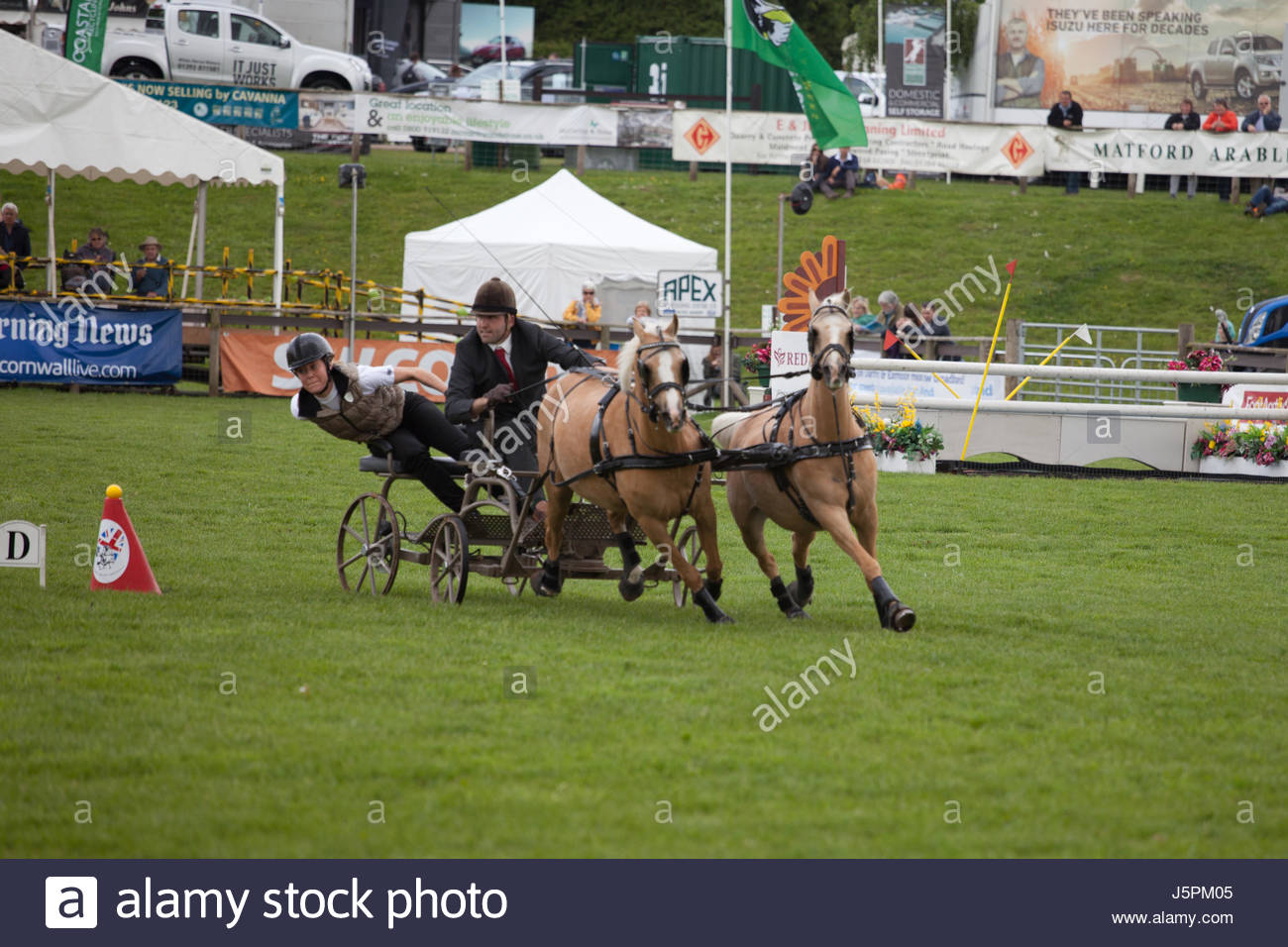 Clyst St Mary, Exeter, Devon, UK. 18th May, 2017. The First of three days at Devon County Show, Fun at the Double - Stock Image