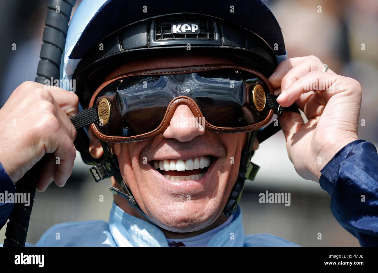 York, UK. 18th May, 2017. Frankie Dettori Jockey Dante Festival 2017, York Racecourse York Racecourse, York, England - Stock Image