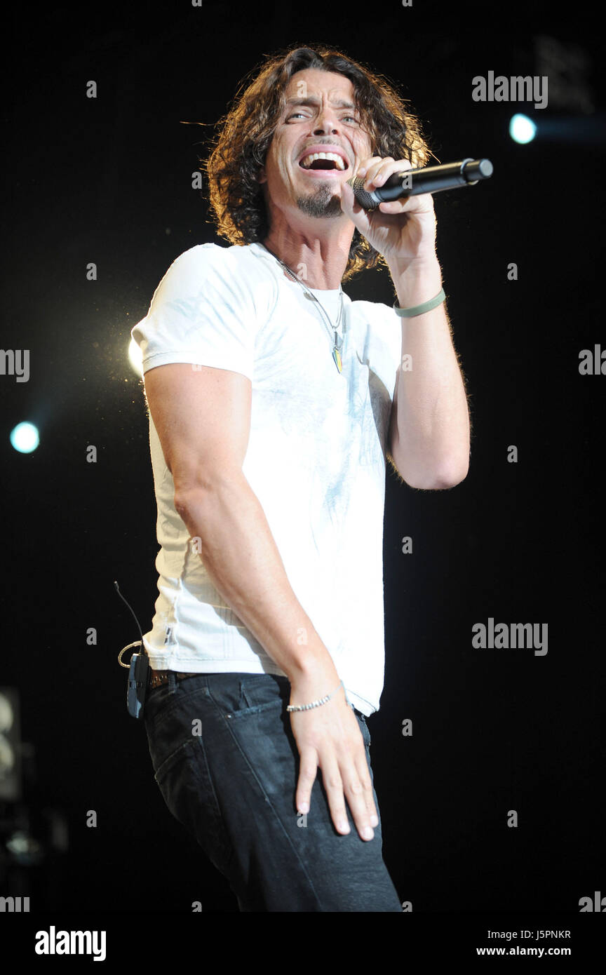 May 18, 2017 - File Photo - Grunge legend and peerless rock vocalist CHRIS CORNELL was found dead in a Detroit hotel - Stock Image