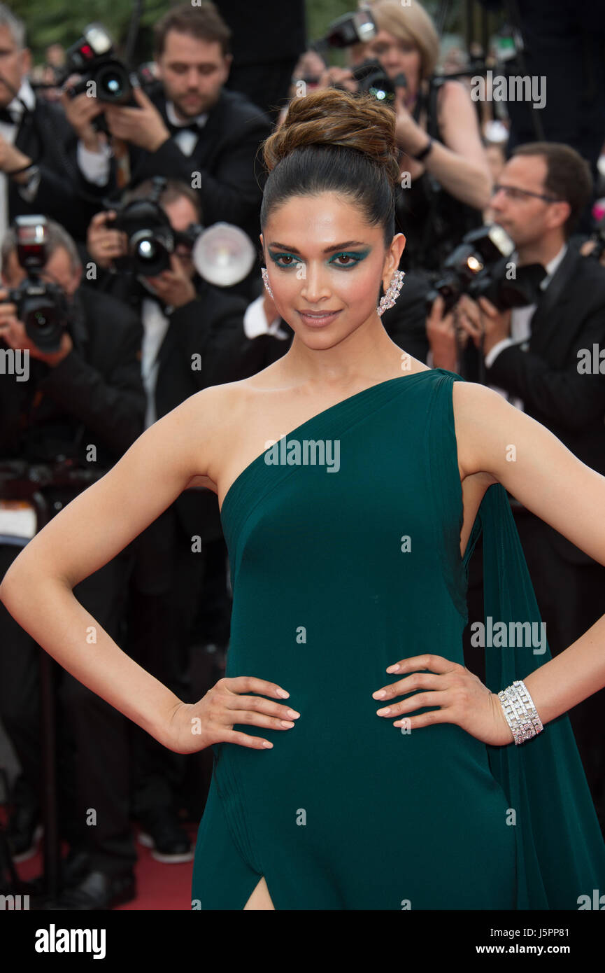 Cannes, France. 18th May, 2017. CANNES, FRANCE. May 18, 2017: Deepika Padukone at the premiere for 'Loveless' - Stock Image