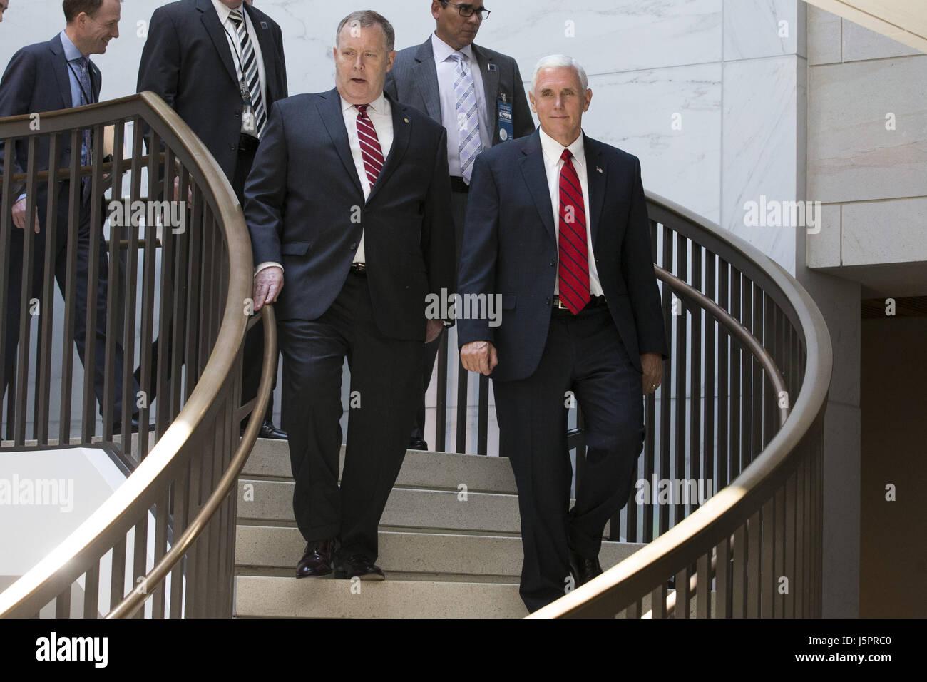 Washington, DC, USA. 18th May, 2017. Vice President MIKE PENCE Stock ...