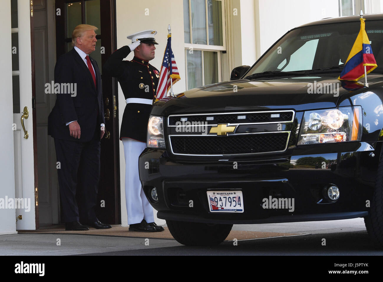 Washington, District of Columbia, USA. 18th May, 2017. May18, 2017-The White House, Washington DC.President Donald - Stock Image