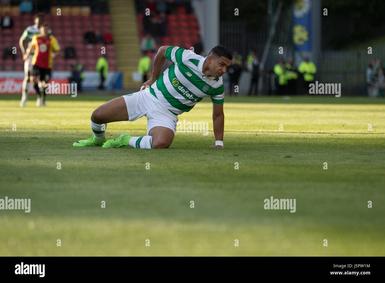 Glasgow, Scotland UK, 18 May 2017, Partick Thistle v Celtic, Firhill Stadium, SPFL Match 5-0. Scottish Premiership - Stock Image