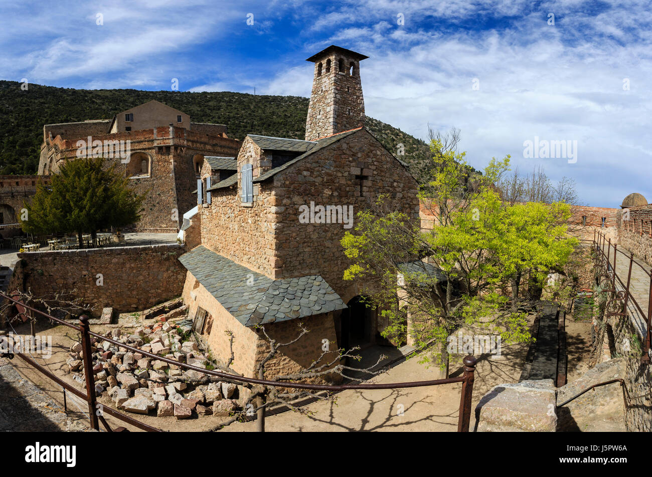 France, Pyrenees Orientales, Villefranche de Conflent, labelled Les Plus Beaux Villages de France ( Most beautiful - Stock Image
