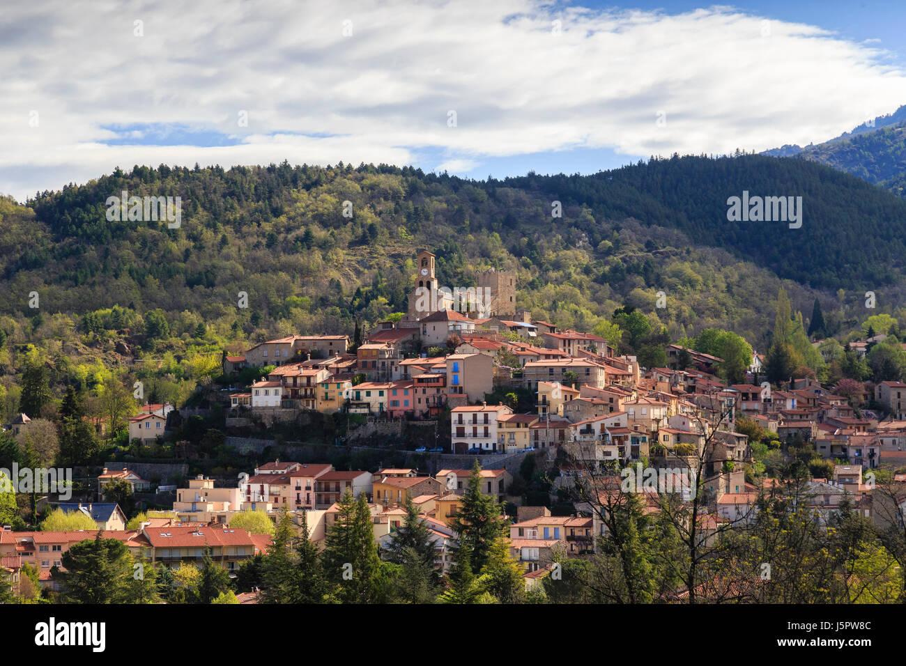 France, Pyrénées-Orientales (66), Vernet-les-Bains // France, Pyrenees Orientales, Vernet les Bains - Stock Image