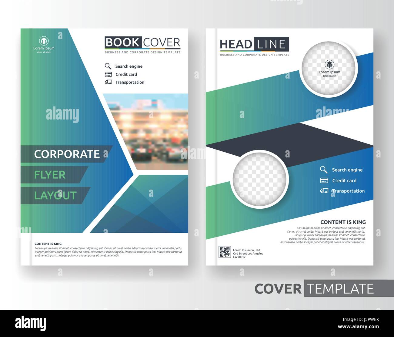 Multipurpose business and corporate cover design layout. Suitable for flyer, brochure, book cover and annual report. - Stock Image