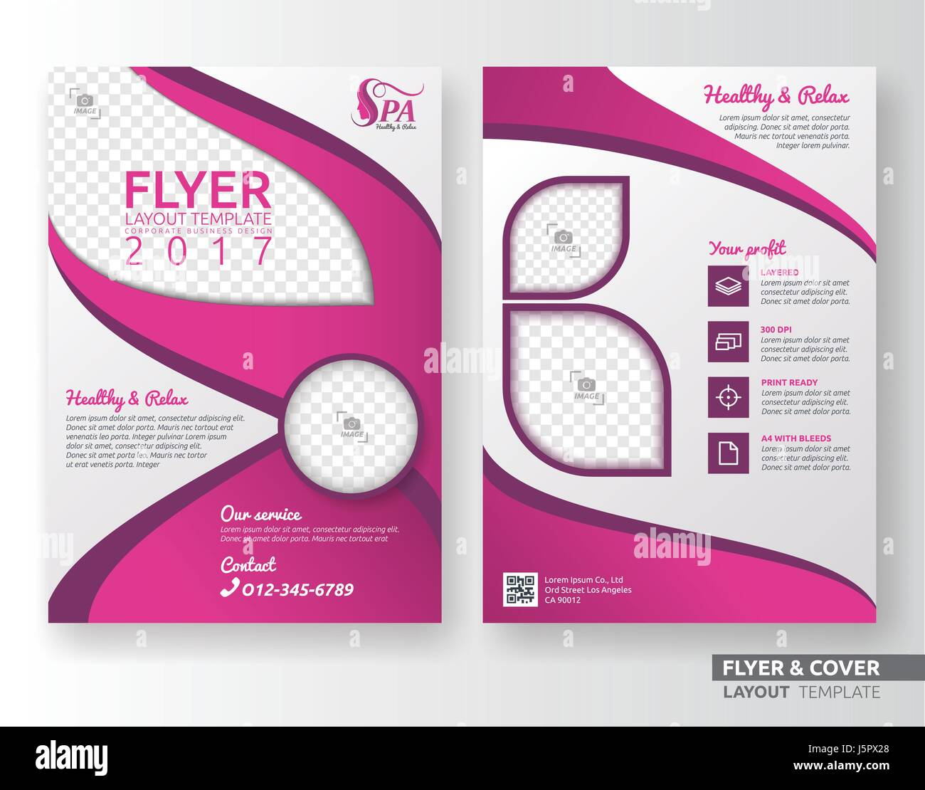 multipurpose corporate business flyer layout design suitable for