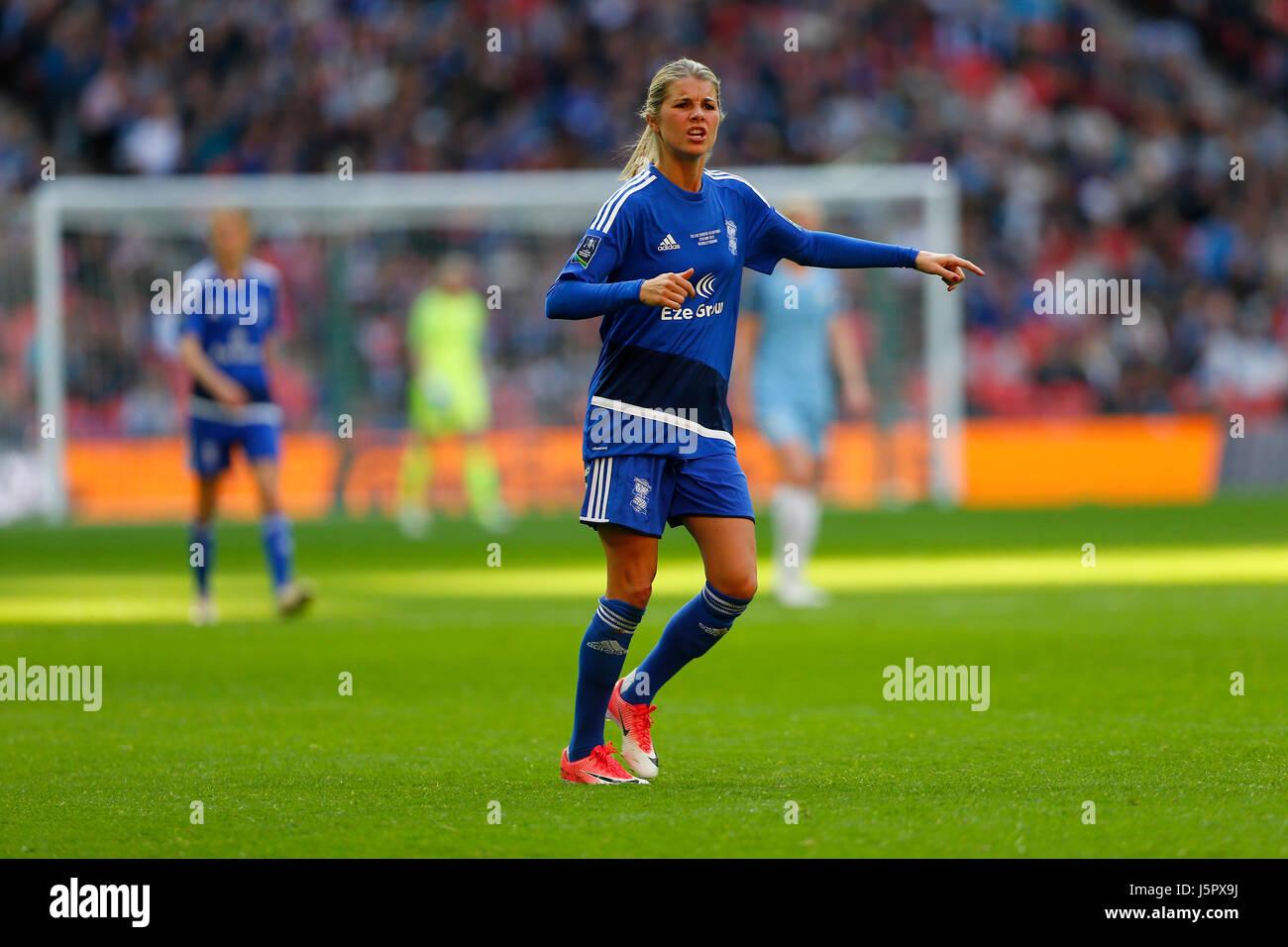 Norwegian midfielder Andrine Hegerberg of Birmingham City midfielder during the SSE Women's FA Cup Final match - Stock Image