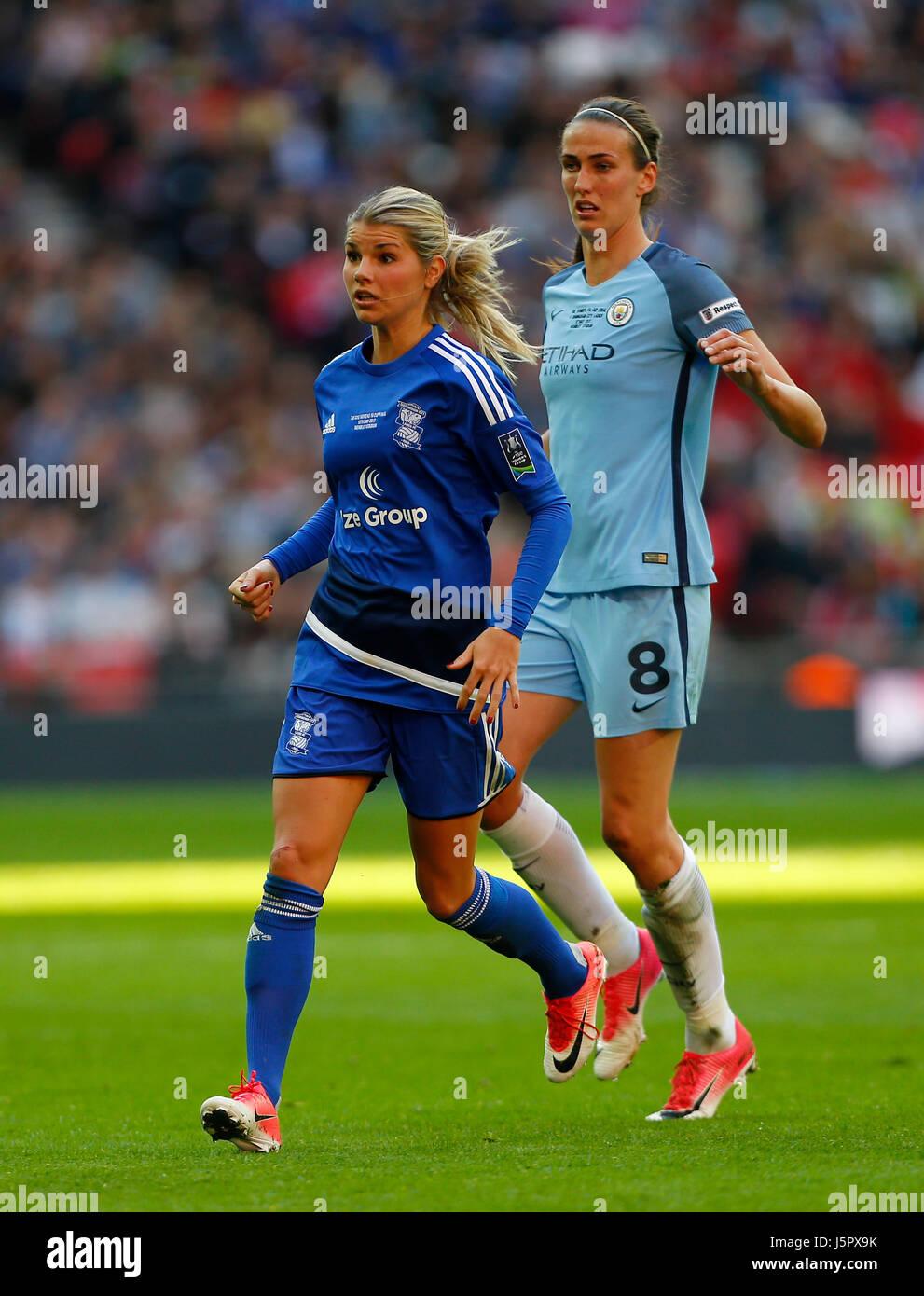 Norwegian midfielder Andrine Hegerberg of Birmingham City midfielder during the SSE Women's FA Cup Final match between Stock Photo