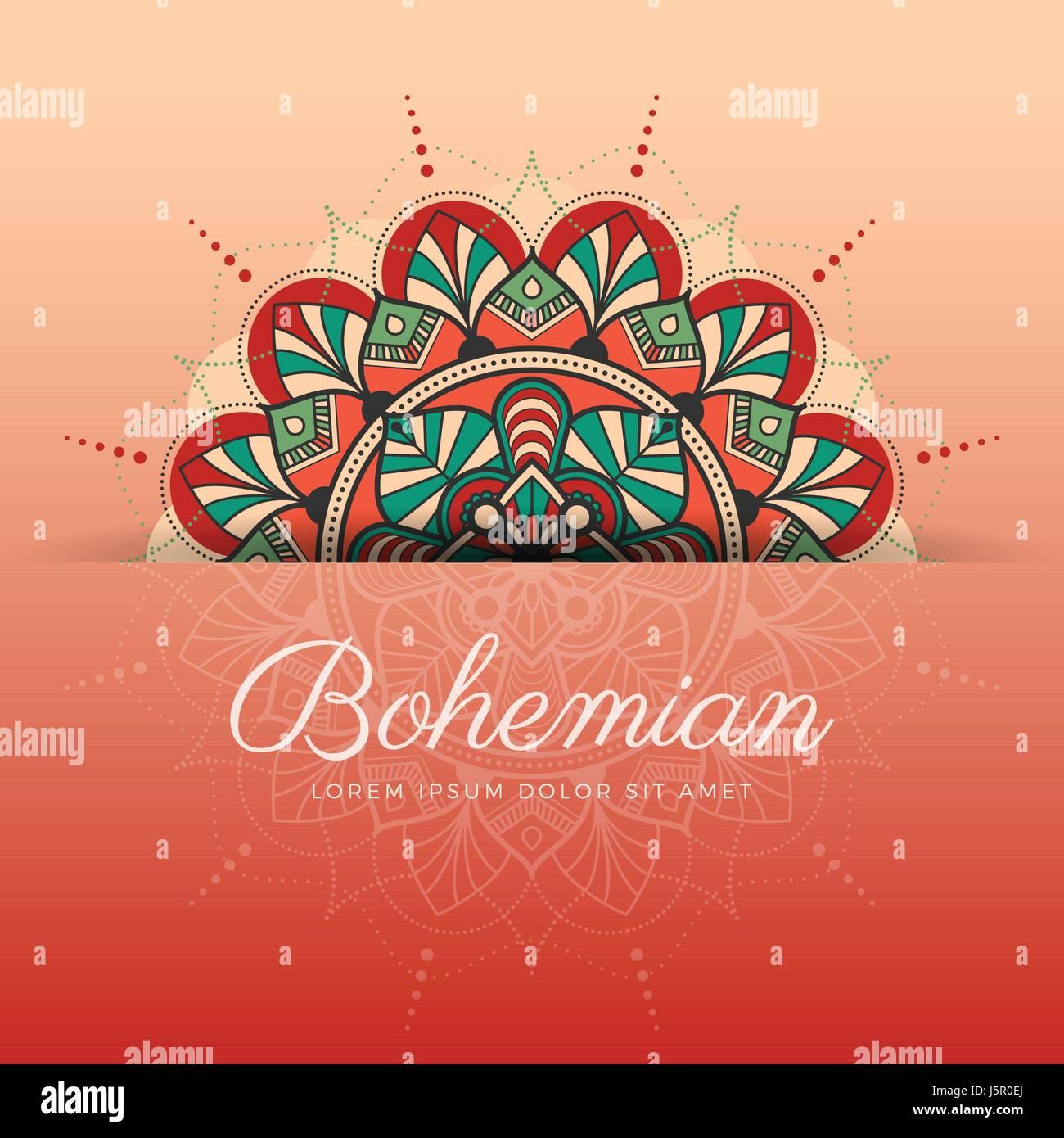 Beautiful henna mehndi mandala ornament design for background stock beautiful henna mehndi mandala ornament design for background greeting card invitation tattoo yoga and spa symbol vector illustration stopboris Images