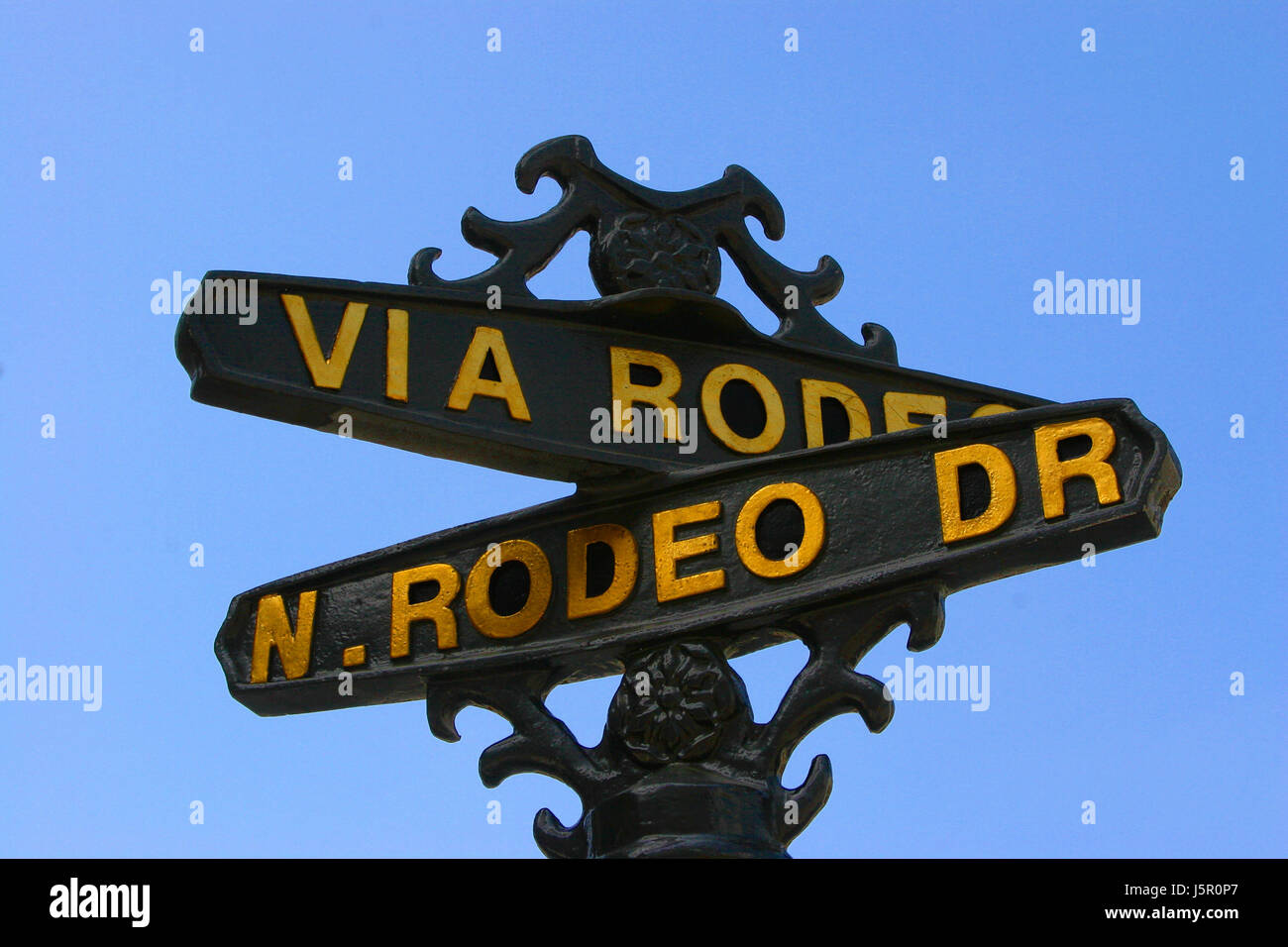 rodeo drive rodeo drive beverly hills los angeles kalifornien wilshire Stock Photo
