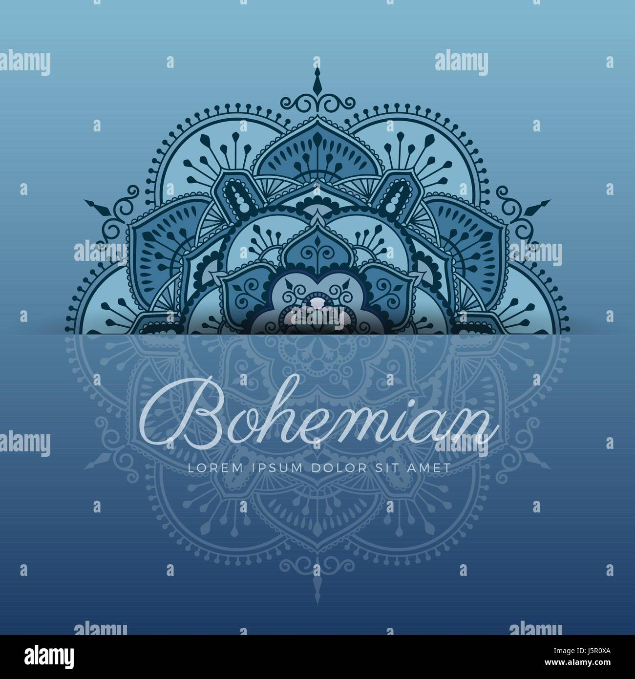 Beautiful Henna Mandala Ornament Design For Background Greeting