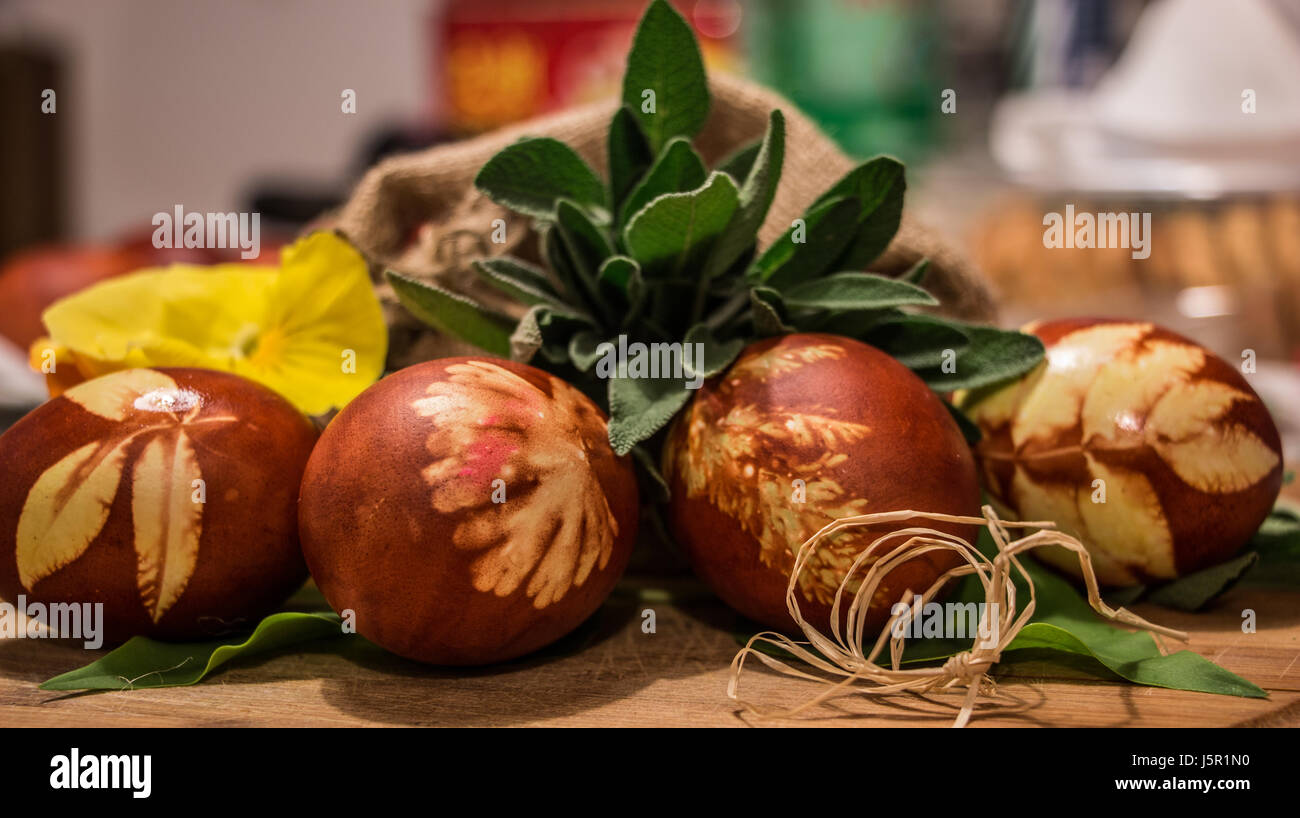 Easter eggs in Macedonia - Stock Image