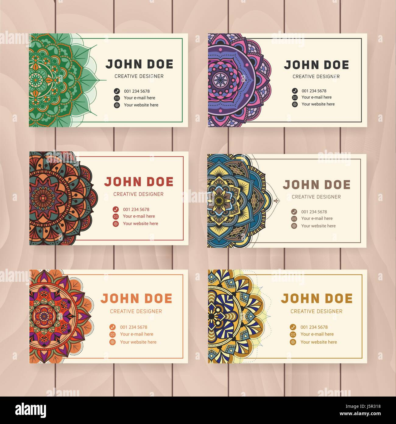 Creative useful business name card design vintage colored mandala creative useful business name card design vintage colored mandala design for personal name card visiting card or tag round ornament vector illustra reheart Images