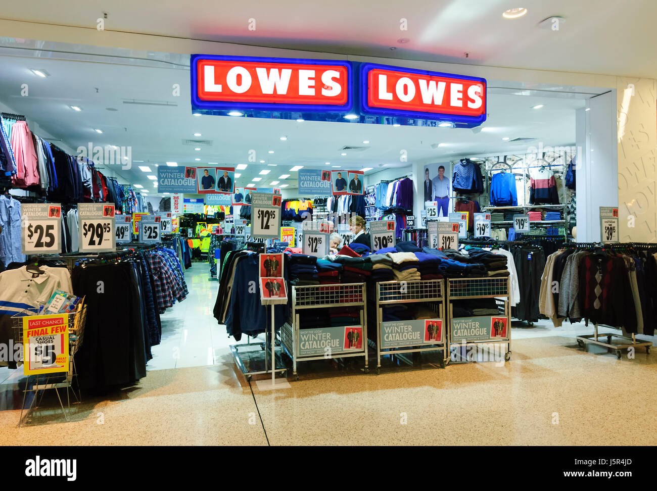 Storefront of Lowes clothes shop, New South Wales, NSW, Australia Stock Photo