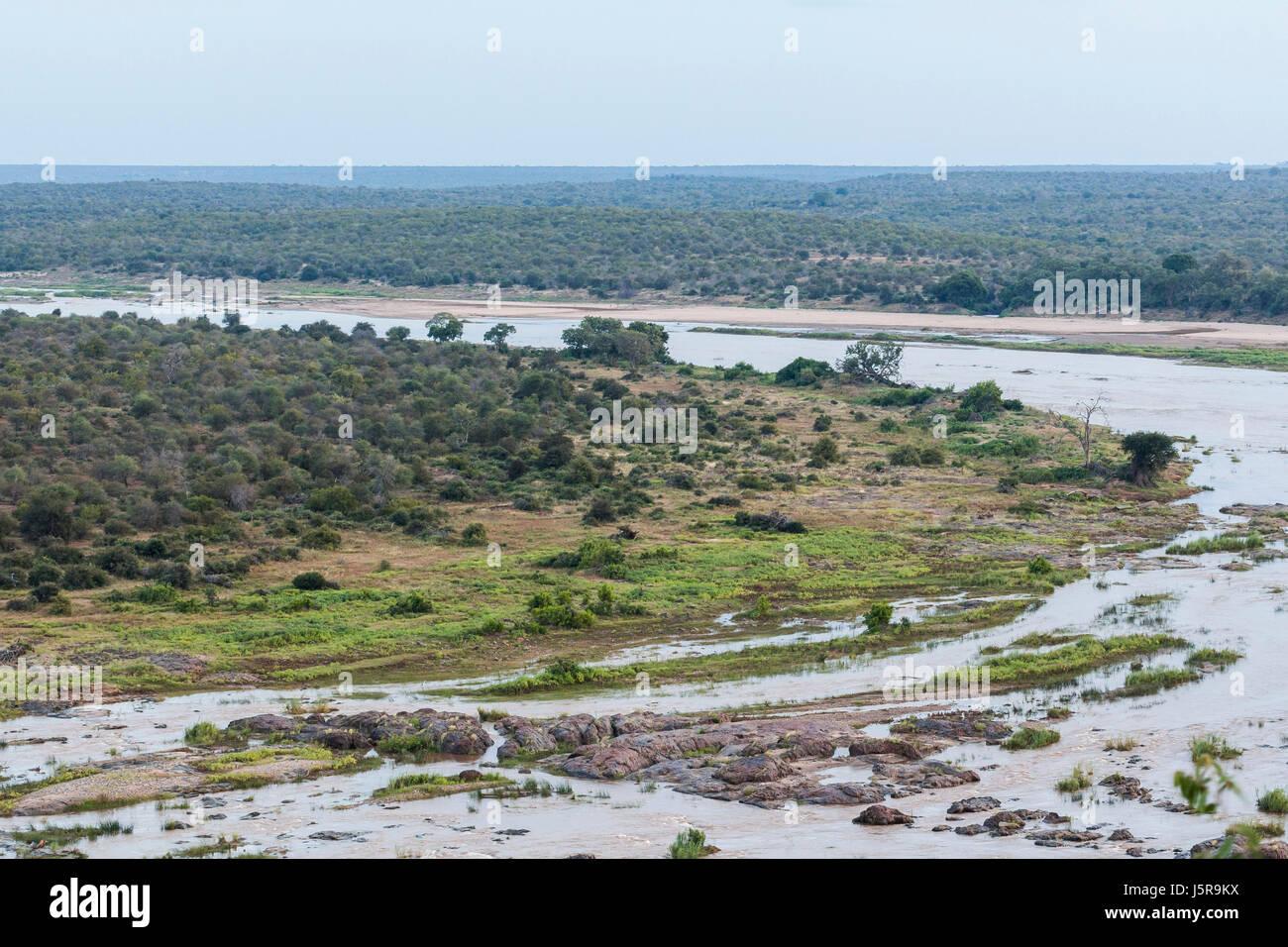 Olifants Camp view, Kruger Park, South Africa - Stock Image