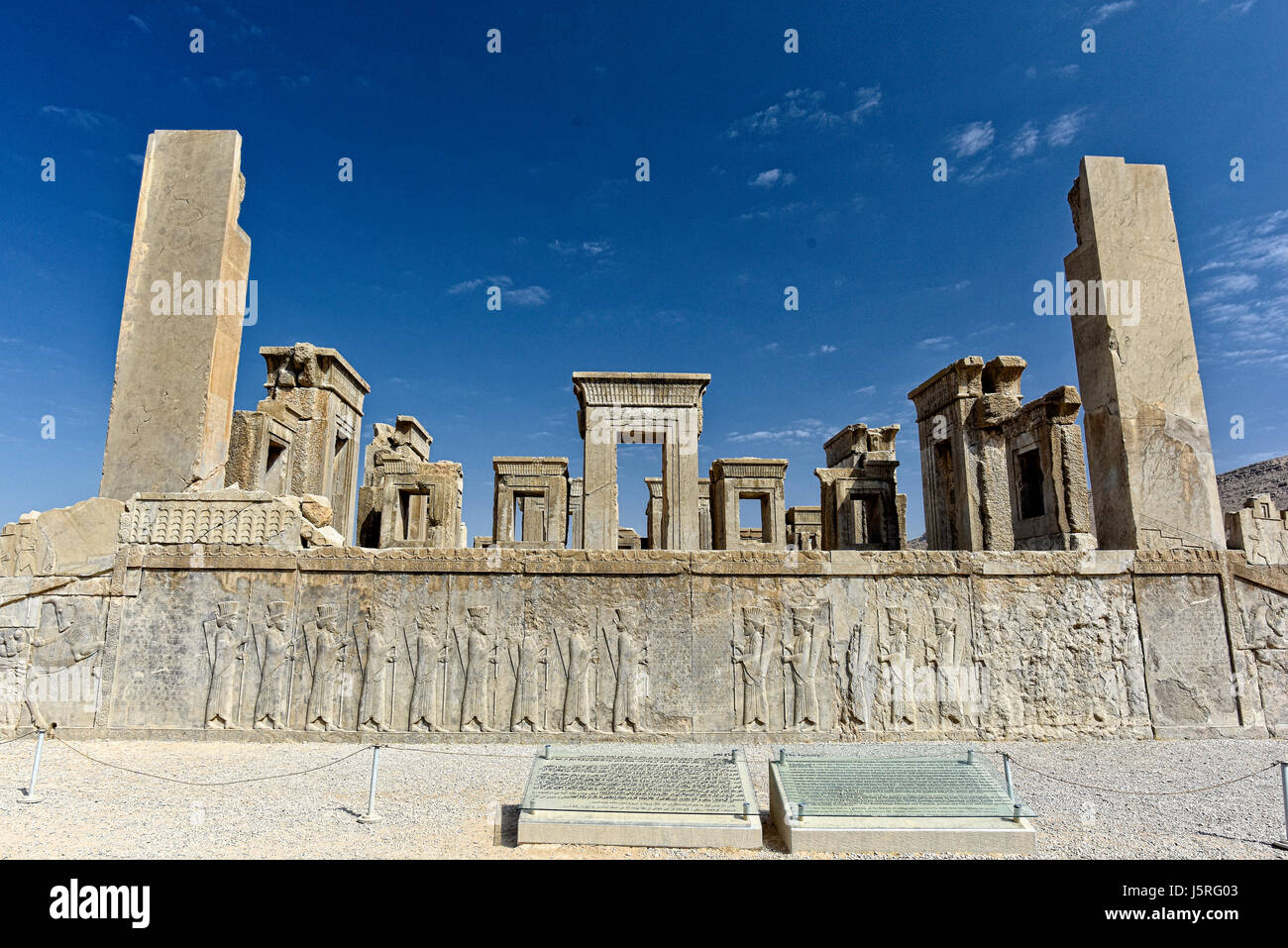 Ruins At Persepolis Historical City In Shiraz The Construction Of Stock Photo Alamy
