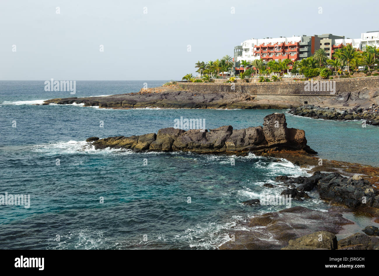 Playa El Pinque Tenerife -25 December, 2016. Promenad around Playa El Pinque beach in  Tenerife, Canaries Island, - Stock Image