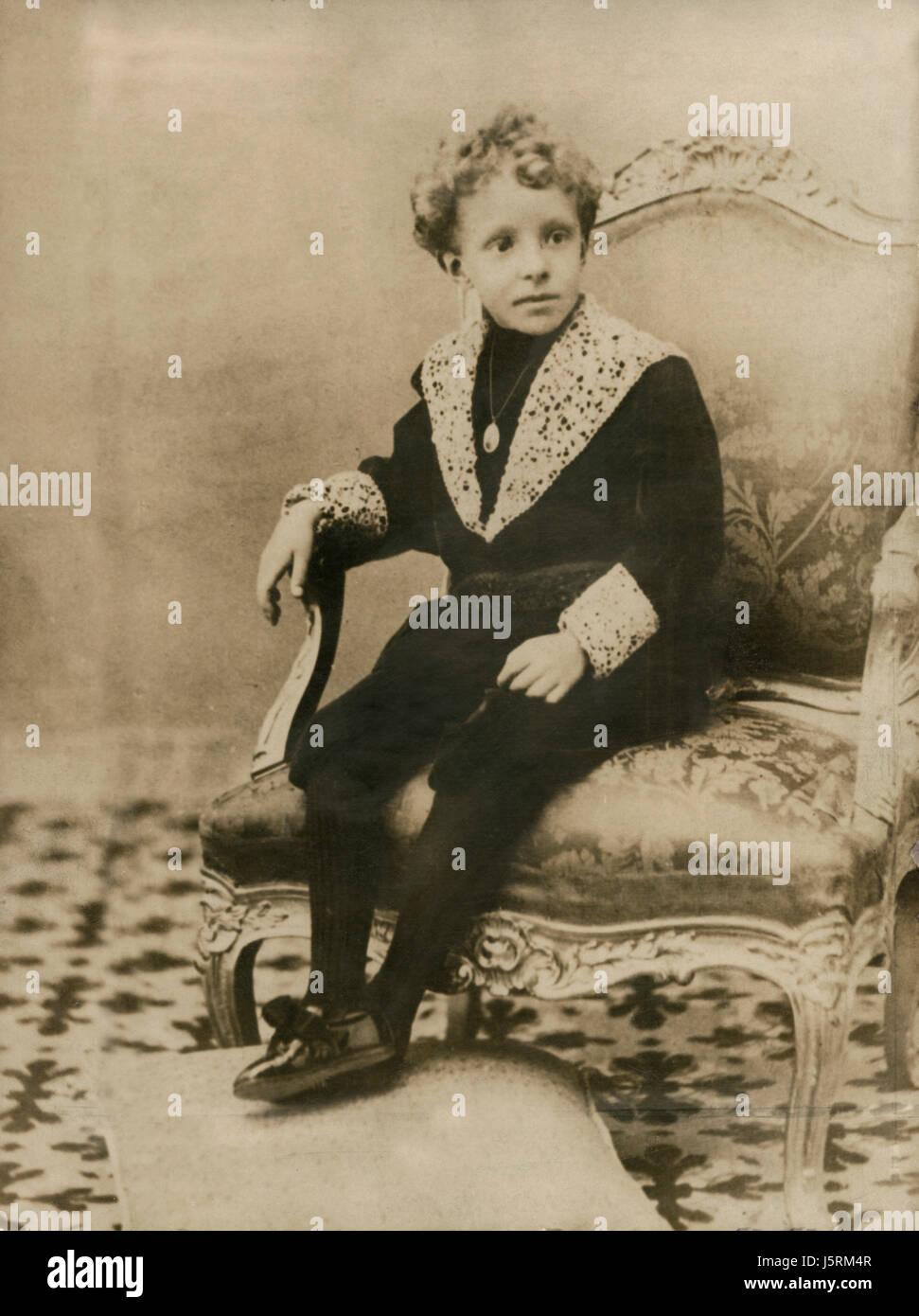 Alfonso VIII (1886-1941), King of Spain, Portrait, 1892