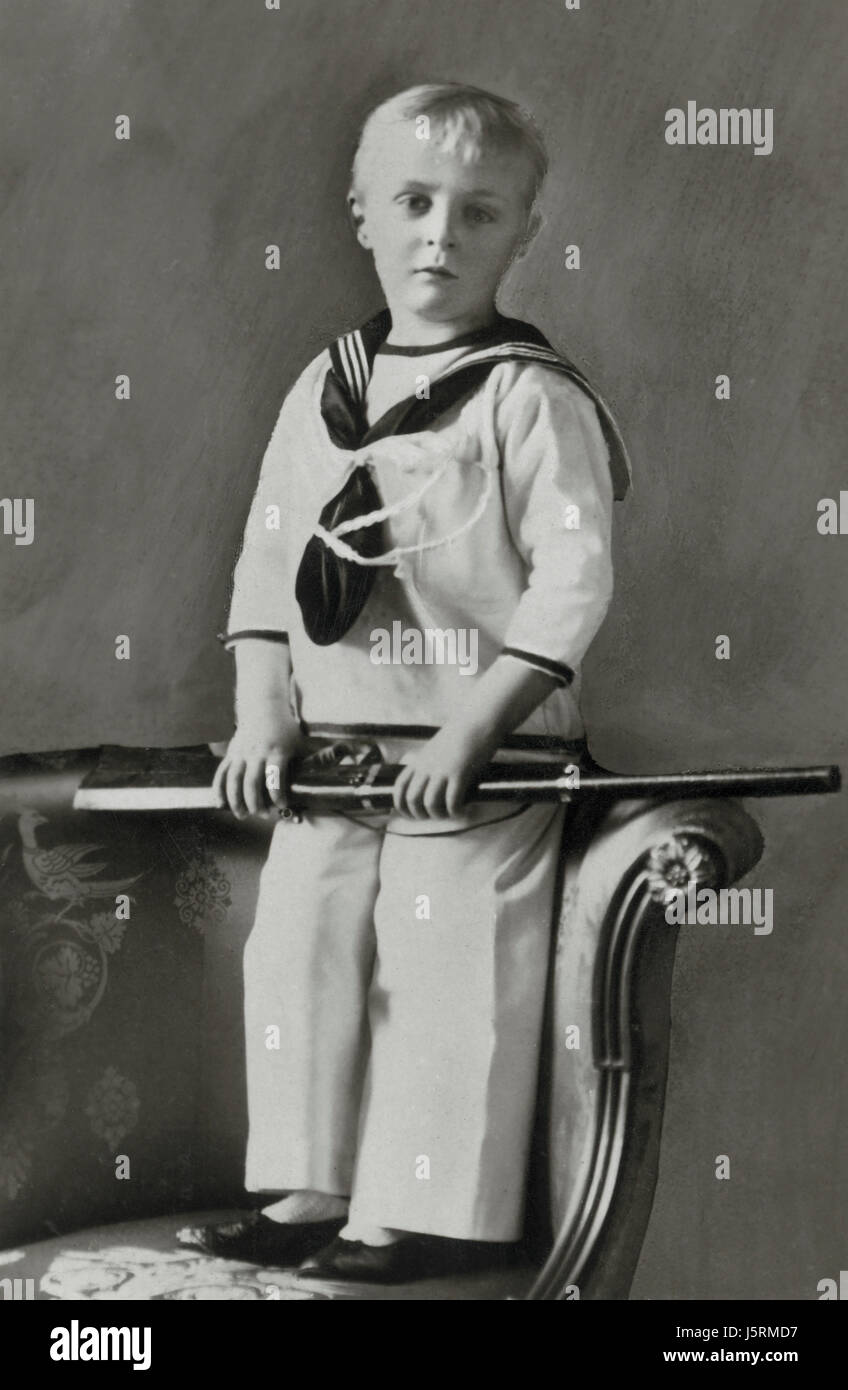 Prince Olaf of Sweden, later Olaf V, King of Norway, Portrait, 1908 - Stock Image