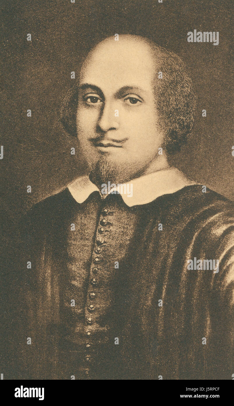 William Shakespeare (1564-1616), English Poet, Playwright and Actor, Portrait Stock Photo