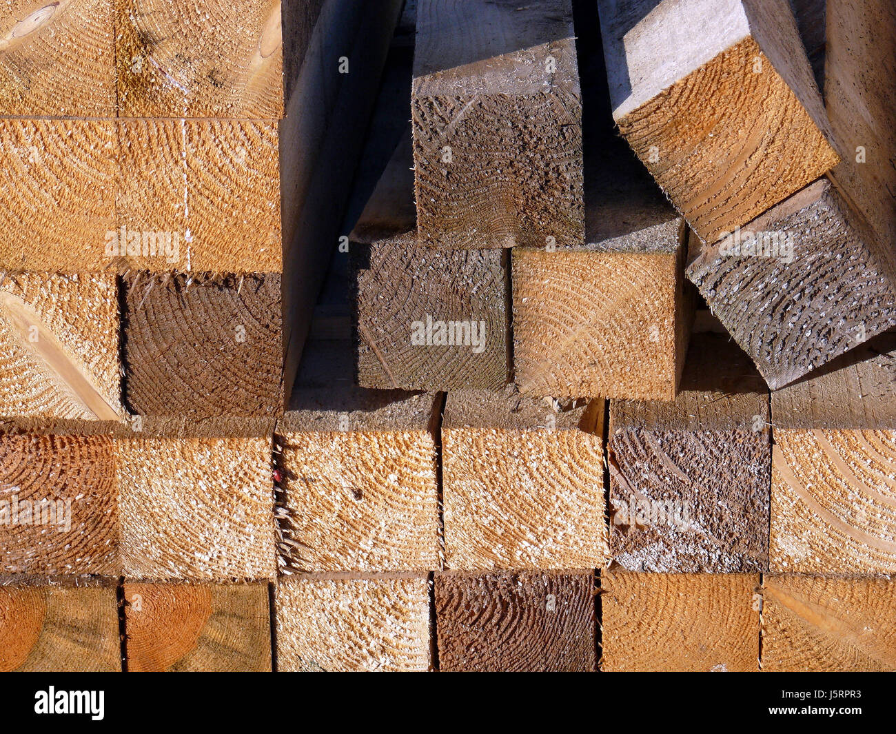 wood saw stacked cut myth building material say sawn said material nature - Stock Image