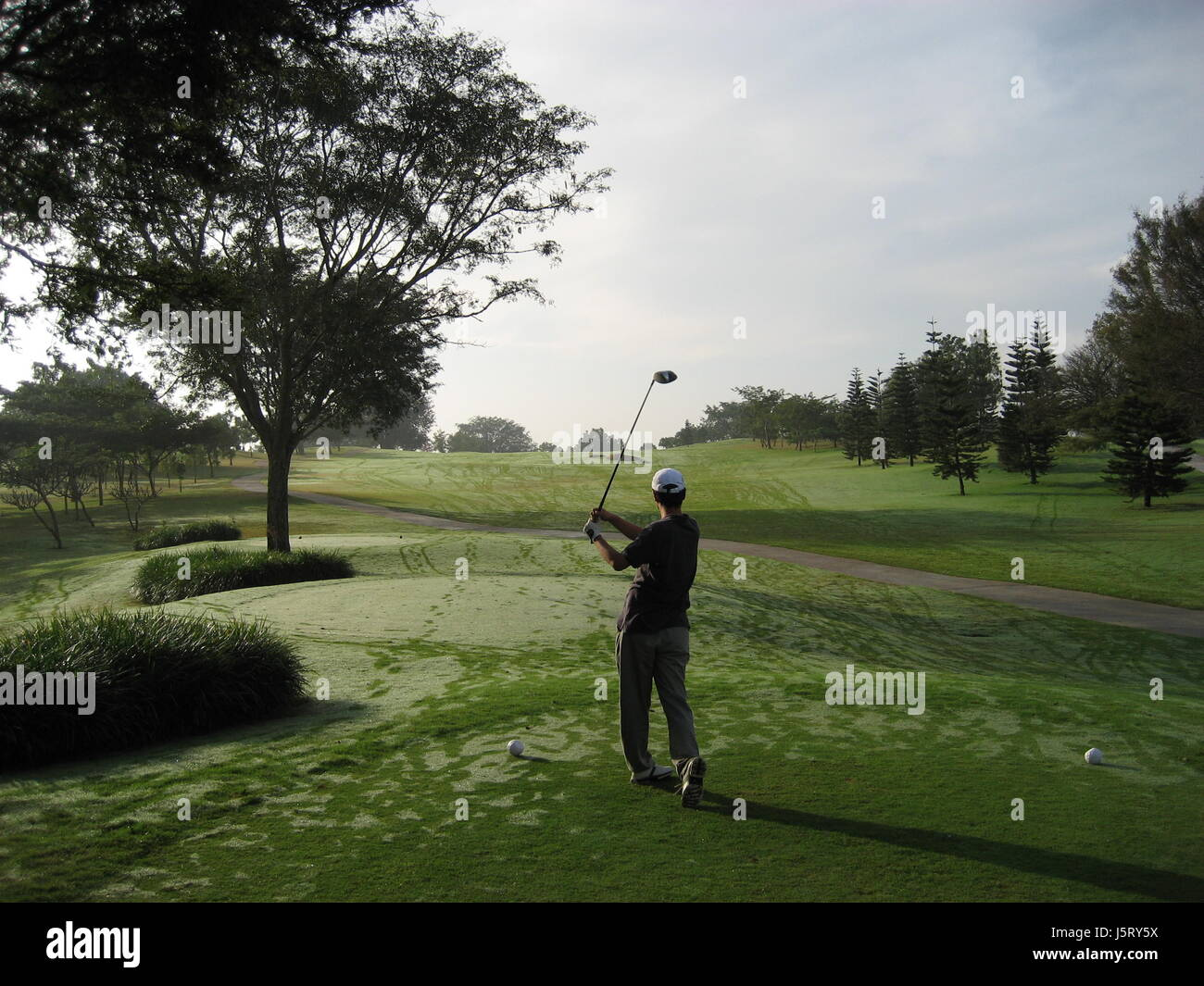 sport sports ball winter green dew verve early gulf discount golf lawn tomorrow Stock Photo