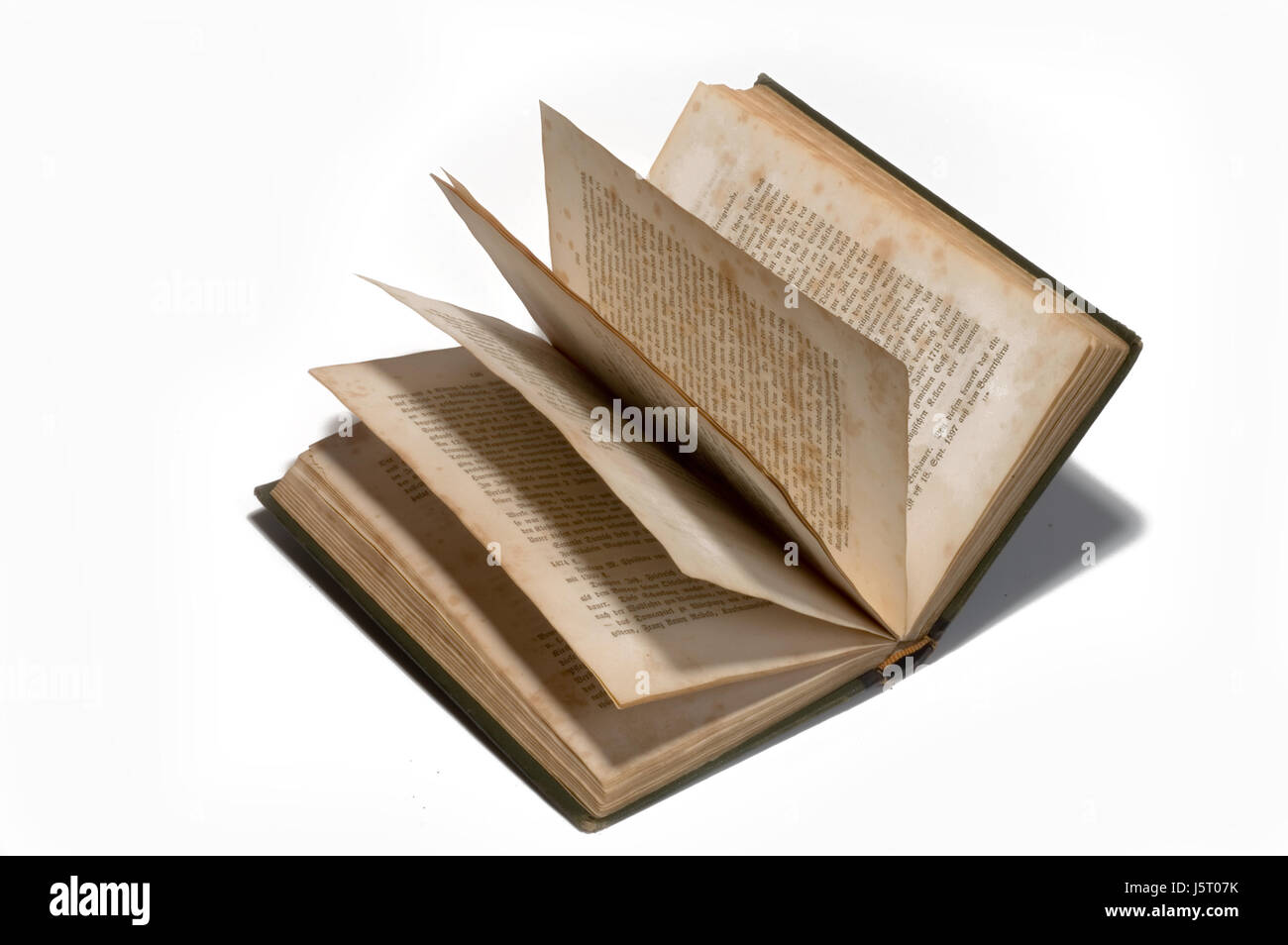 historical writing font typography print recording description yellowed - Stock Image