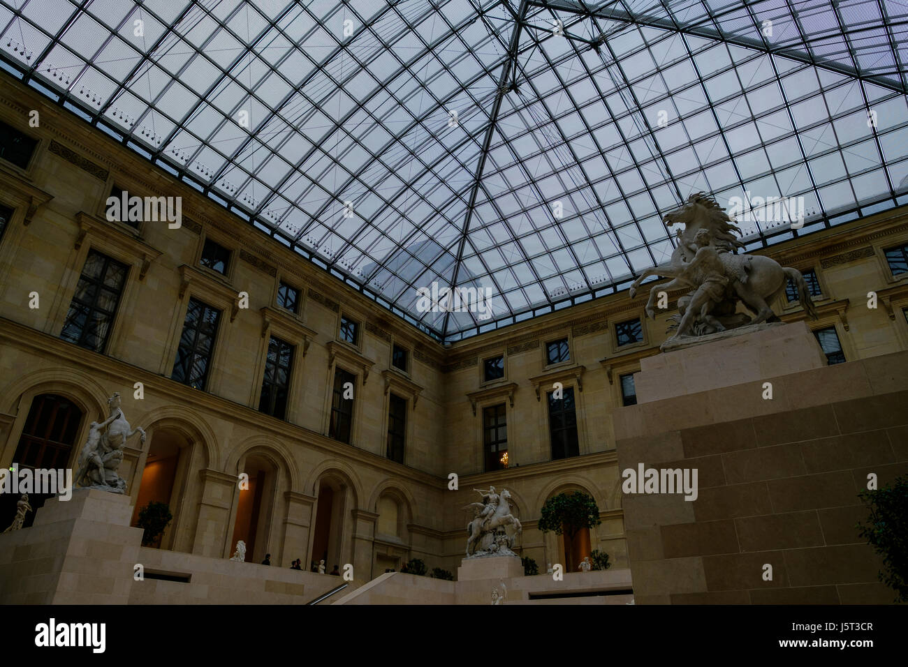 Inside Of Building In France - Stock Image