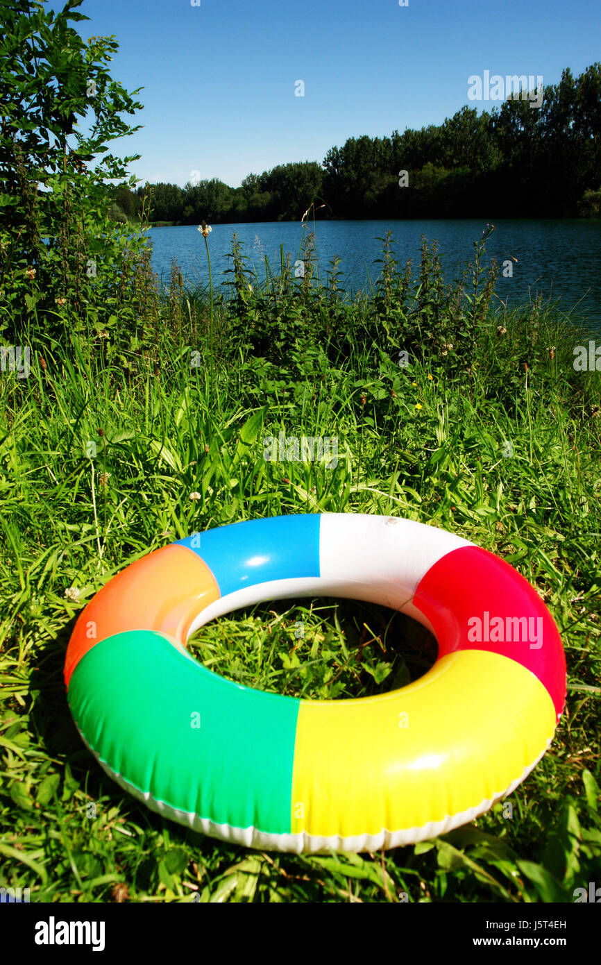 toys bathing ring inflatable pneumatics spare time free time leisure ...