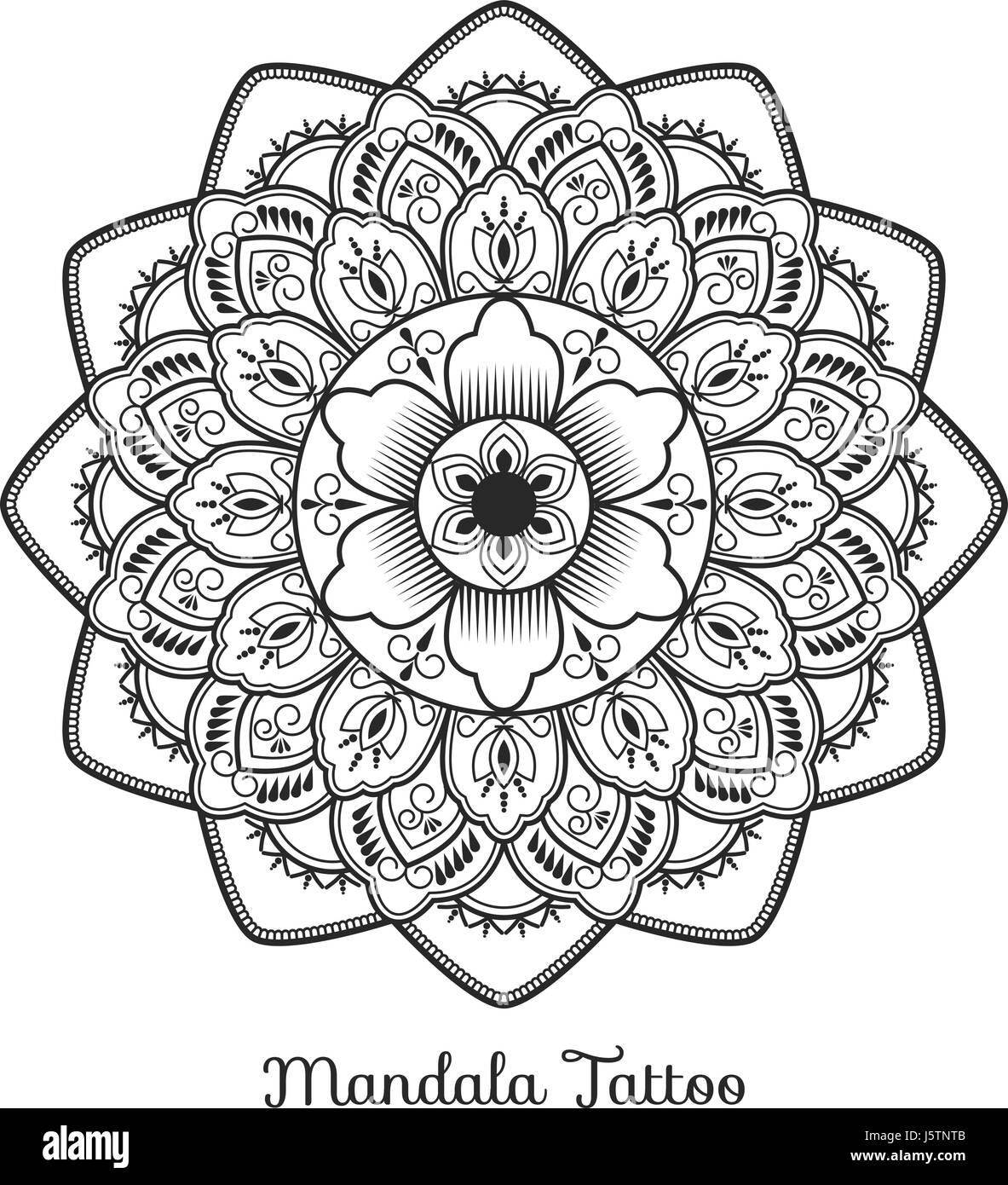 Tibetan Mandala Decorative Ornament Design For Adult