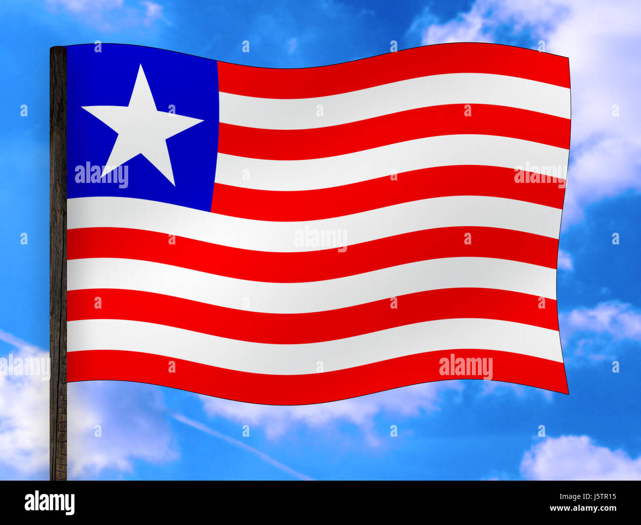 africa,flag,national colors,liberia,banners - Stock Image