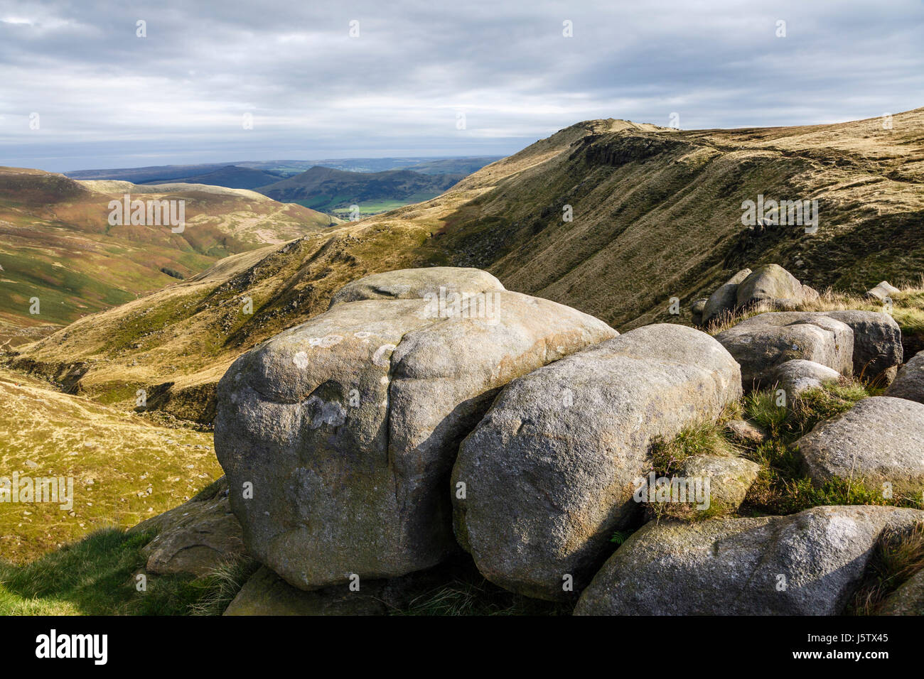 Grindsbrook Clough, Kinder Scout, Peak District National Park, Derbyshire - Stock Image